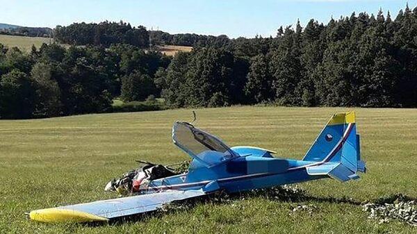 Авиакатастрофа самолета в Мосте, Чехия - Sputnik Polska