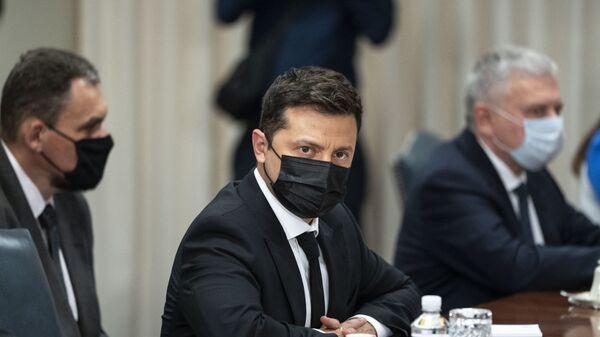 Президент Украины Владимир Зеленский в США - Sputnik Polska