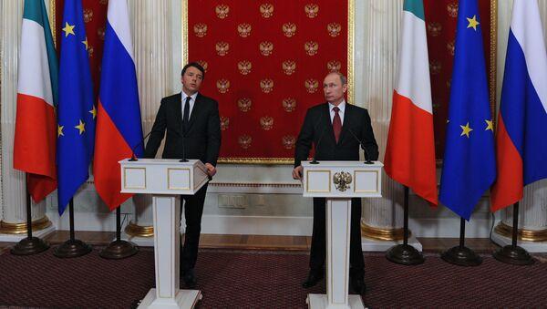 Spotkanie prezydenta FR z premierem Włoch - Sputnik Polska