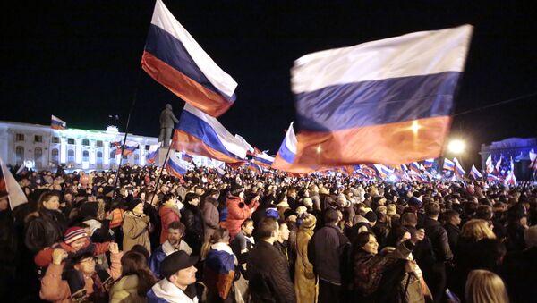 Koncert w centrum Symferopola na cześć referendum w sprawie statutu Krymu - Sputnik Polska