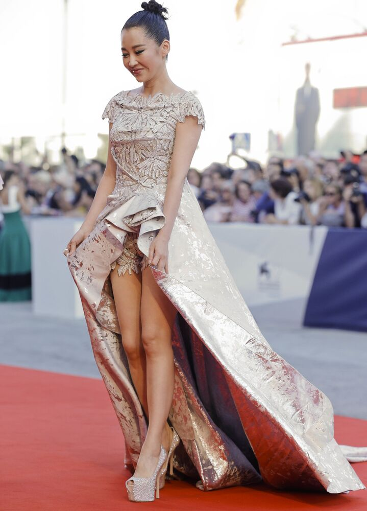 Chińska aktorka Qing Xu podczas zakończenia 72. Międzynarodowego Festiwalu Filmowego w Wenecji