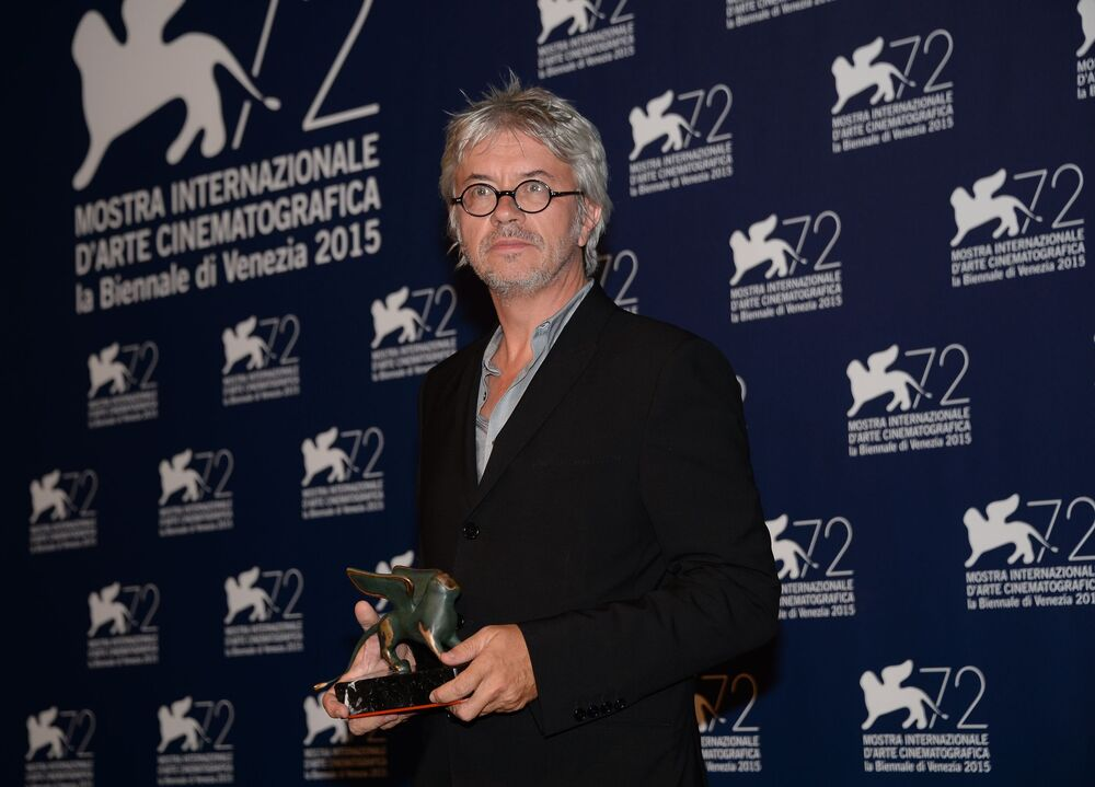 Francuski scenarzysta i reżyser Christian Vincent podczas sesji zdjęciowej na zakończeniu 72. Międzynarodowego Festiwalu Filmowego w Wenecji