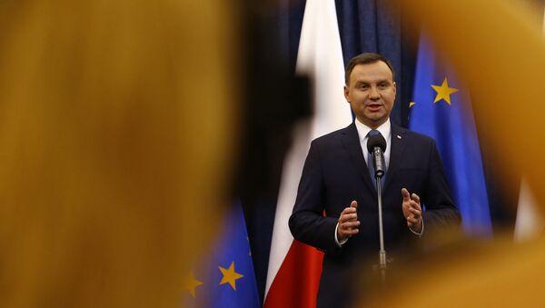Президент Польши Анджей Дуда в Варшаве - Sputnik Polska