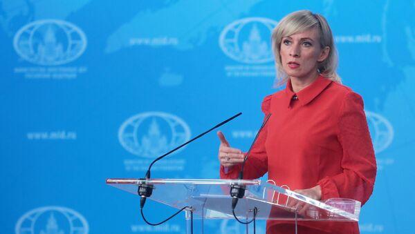 Briefing rzeczniczki Ministerstwa Spraw Zagranicznych Rosji Marii Zacharowej - Sputnik Polska