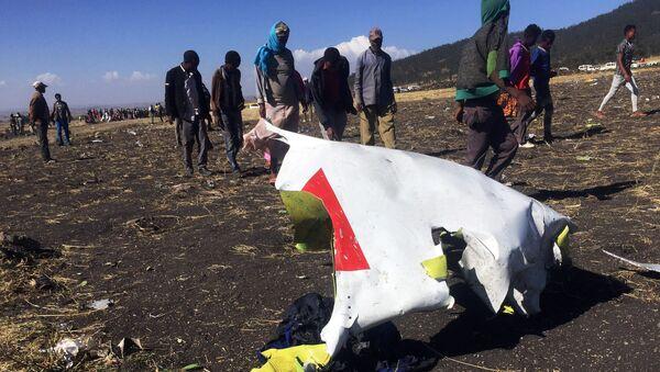 Miejsce katastrofy Boeinga linii Ethiopian Airlines, Etiopia - Sputnik Polska