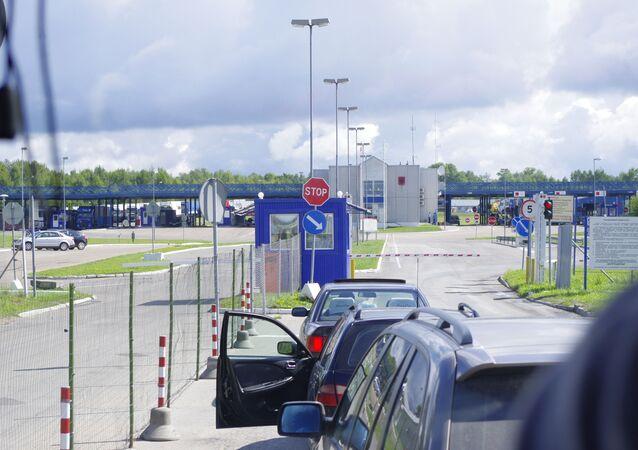 Przejście graniczne na rosyjsko-łotewskiej granicy