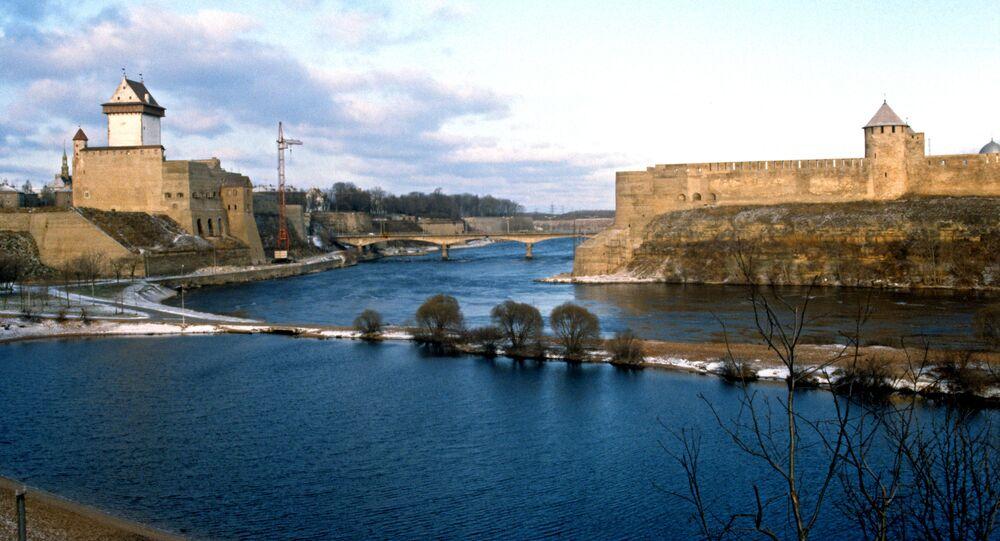 Most przyjaźni na granicy Rosji i Estonii