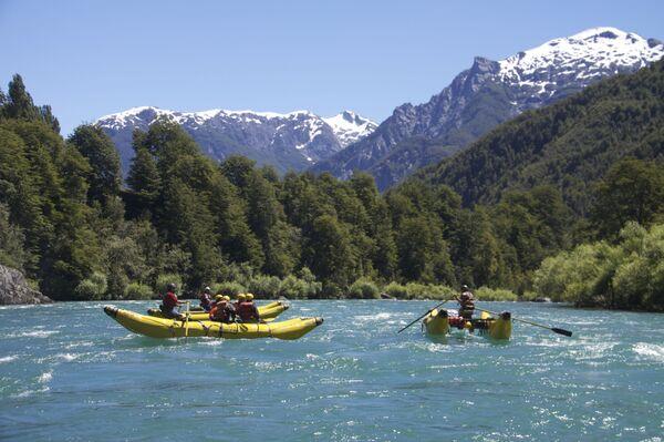 Rzeka Futaleufú w północnej Patagonii - Sputnik Polska
