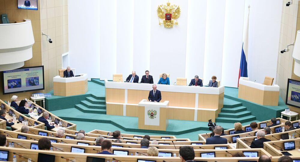 Posiedzenie Rady Federacji Federacji Rosyjskiej