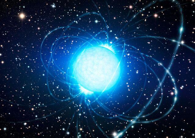 Artystyczne wyobrażenie magnetara