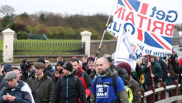 Marsz Brexit Betrayal z Sunderland do Londynu - Sputnik Polska