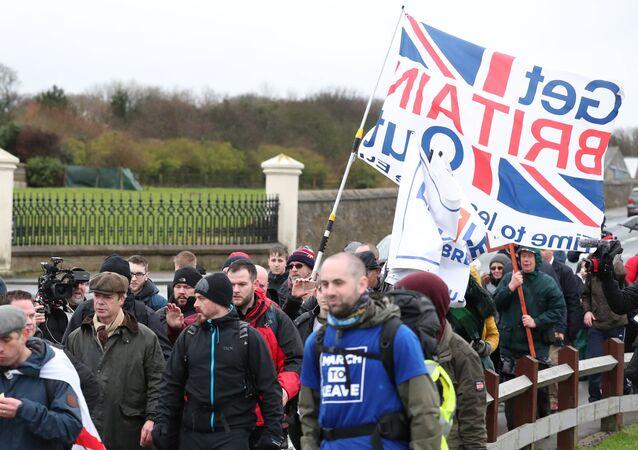 Marsz Brexit Betrayal z Sunderland do Londynu