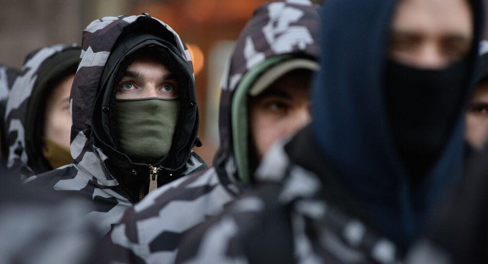 Marsz nacjonalistów w Kijowie