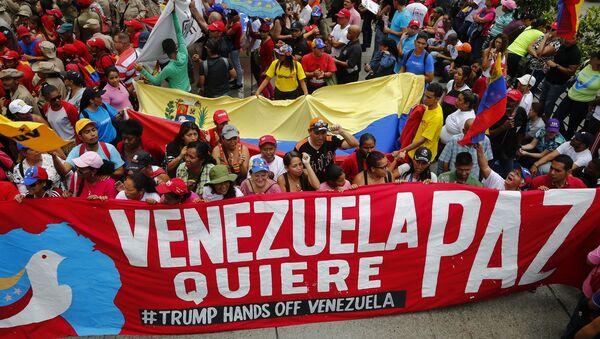 Zwolennicy Nicolasa Maduro, Caracas - Sputnik Polska