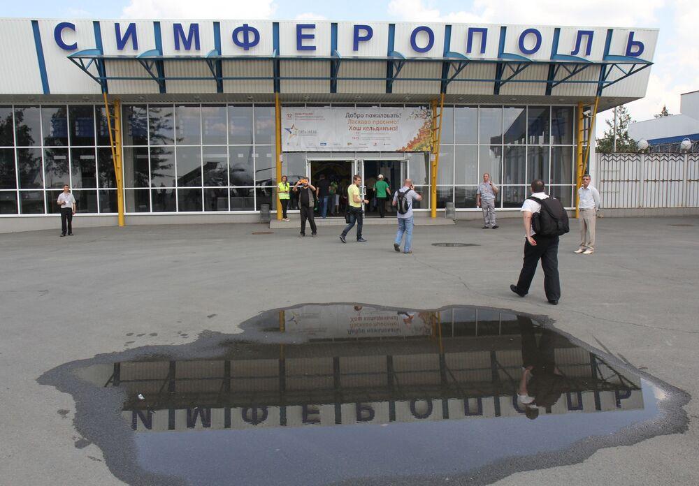 Lotnisko w Symferopolu, 2014 rok