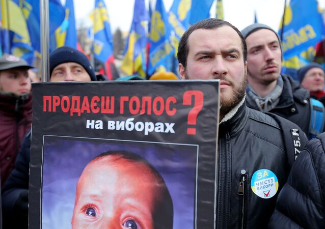 Manifestacja w Kijowie: ludzie żądają sprawiedliwych wyborów