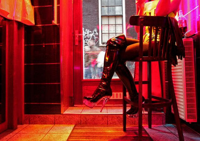 Dzielnica Czerwonych Latarni w Amsterdamie