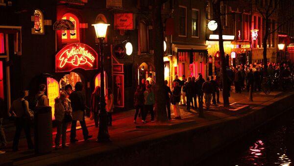 Dzielnica Czerwonych Latarni w Amsterdamie - Sputnik Polska
