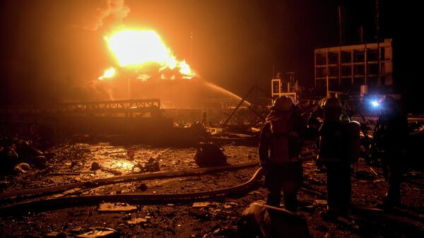 Eksplozja w fabryce chemicznej w chińskiej prowincji Jiangsu - Sputnik Polska