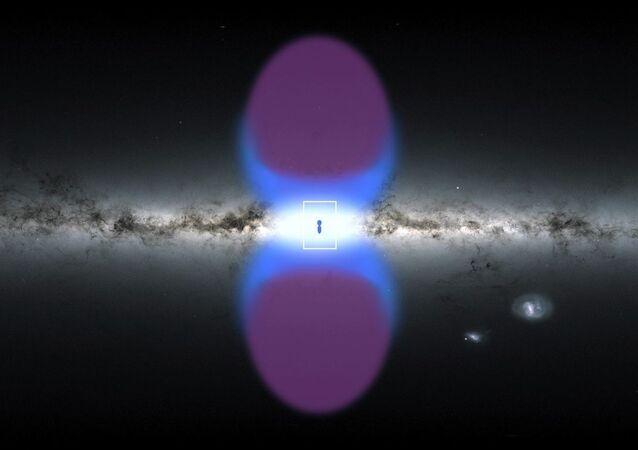 """W centrum galaktyki odkryto zagadkowe gigantyczne """"kominy"""""""