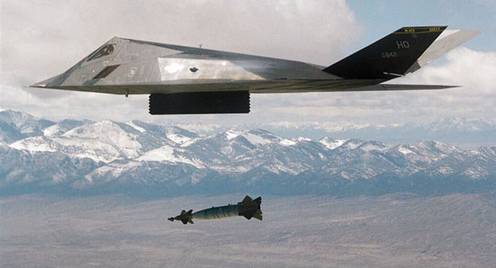 Operacja NATO w Jugosławii: F-117 zrzuca bombę