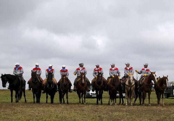 Uczestnicy Rosyjskiego rodeo pod Briańskiem - Sputnik Polska