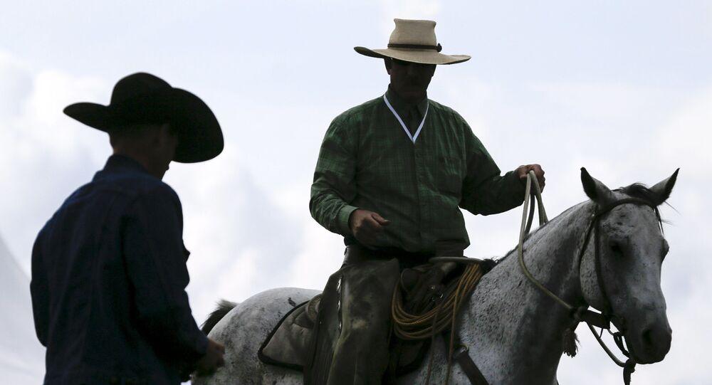 Uczestnicy Rosyjskiego rodeo pod Briańskiem