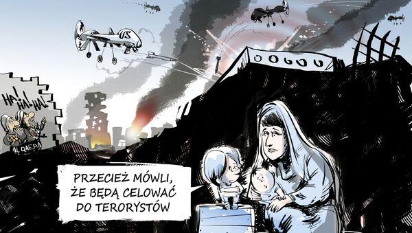 Karykatura: Przecież mówli, że będą celować do terorystów - Sputnik Polska