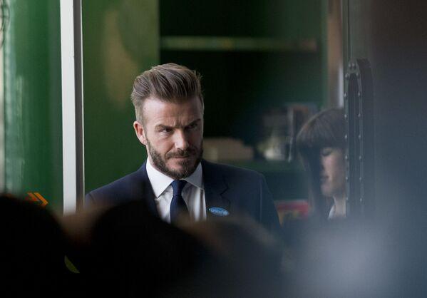 Były angielski piłkarz David Beckham - Sputnik Polska