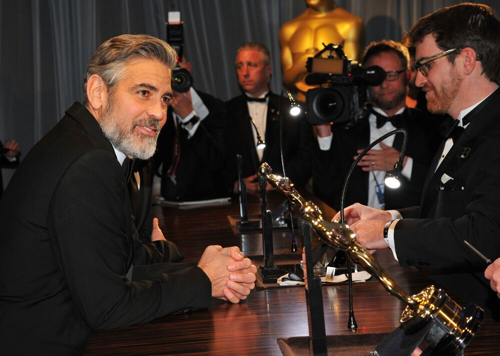 Amerykański aktor i reżyser George Clooney w Los Angeles