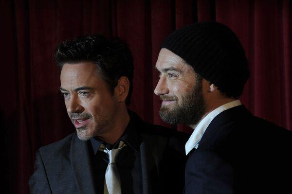 Amerykański aktor Robert Downey i brytyjski aktor Jude Law - Sputnik Polska