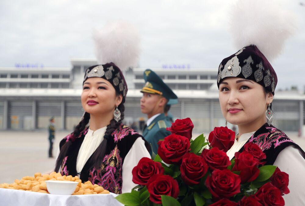 Na lotniksu w Biszkeku