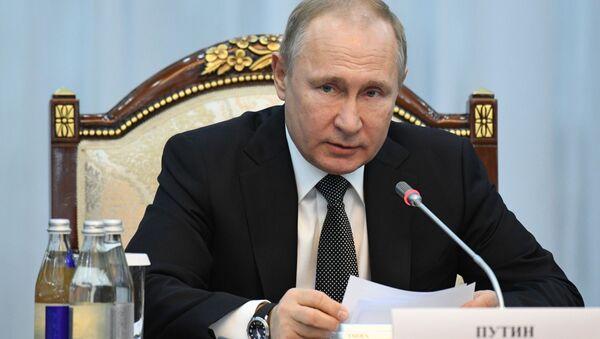 Władimir Putin w Biszkeku - Sputnik Polska