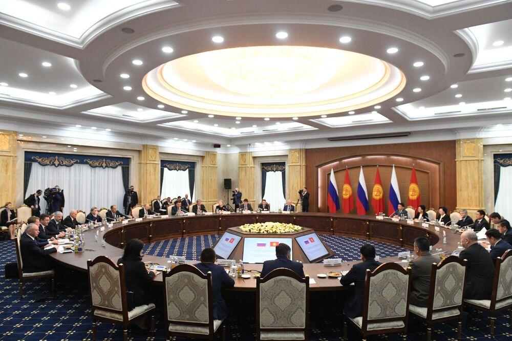 Władimir Putin w Biszkeku