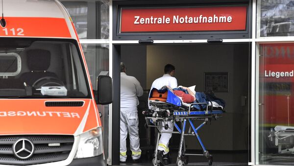 Oddział pogotowia w jednym ze szpitali w Dusseldorfie - Sputnik Polska