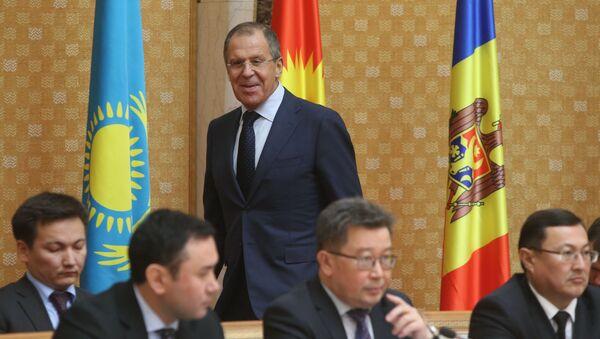 Minister spraw zagranicznych Rosji Siergiej Ławrow na spotkaniu Rady Ministrów Spraw Zagranicznych Wspólnoty Niepodległych Państw - Sputnik Polska