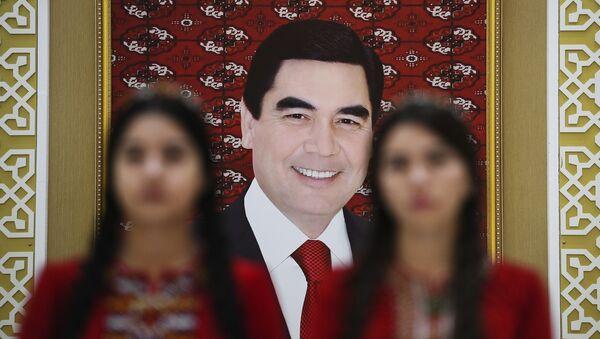 Portret prezydenta Turkmenistanu Gurbanguly'a Berdimuhamedowa - Sputnik Polska