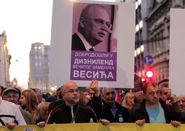 Protesty w Belgradzie