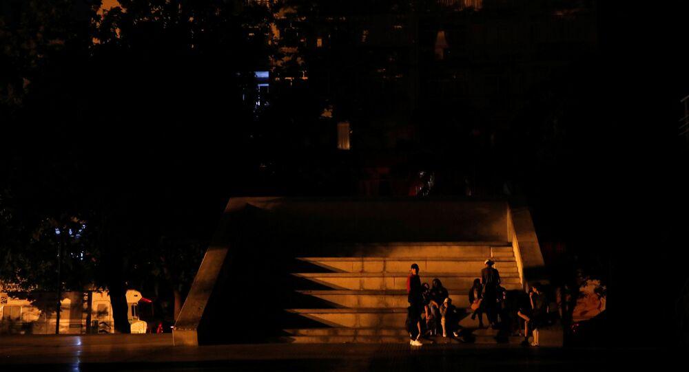 Caracas podczas przerwy w dostawach prądu