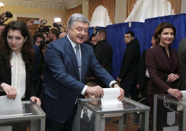 Petro Poroszenko zagłosował w wyborach prezydenckich