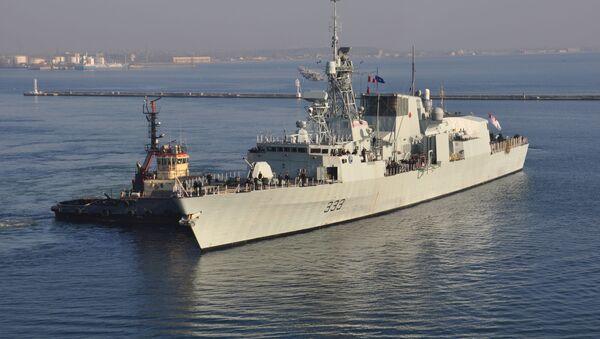 Kanadyjska marynarka wojenna Fregata HMCS Toronto w porcie Odessa, Ukraina - Sputnik Polska