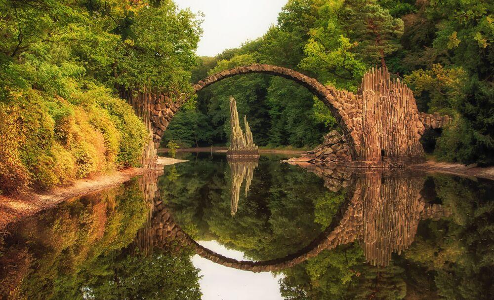 Most Rakotzbrücke w Niemczech