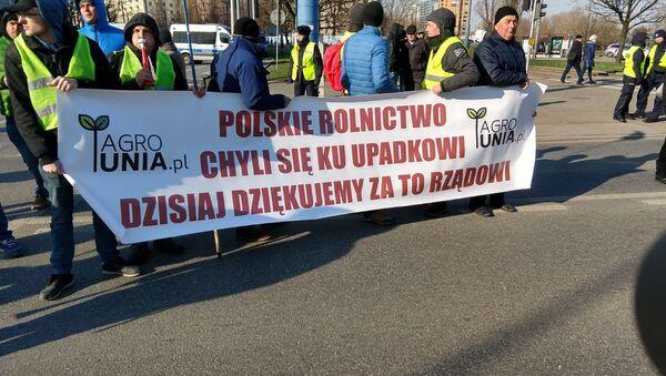 Protest rolników w Warszawie - Sputnik Polska