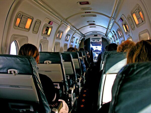 Wnętrze samolotu Beechcraft 1900 nowozelandzkich linii lotniczych Air New Zealand  - Sputnik Polska