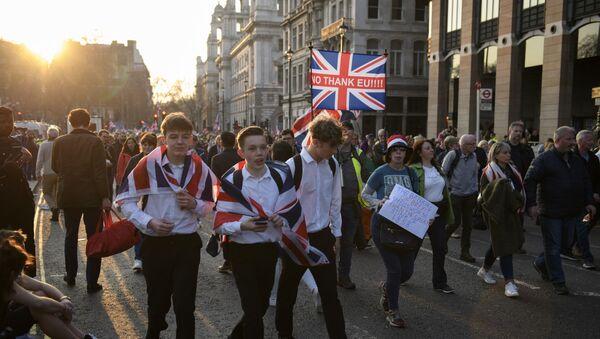 Akcja zwolenników Brexitu w Londynie - Sputnik Polska