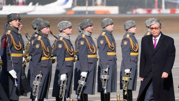 Kasym-Żomart Tokajew w Moskwie - Sputnik Polska