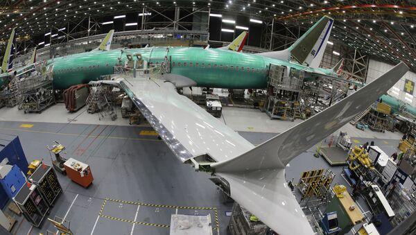 Samolot Boeing 737 MAX 8 w fabryce Boeing 737 w Renton, USA - Sputnik Polska