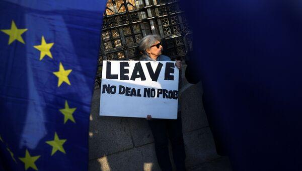 Zwolennicy Brexitu w Londynie - Sputnik Polska