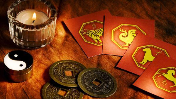 Karty z oznaczeniami chińskiego horoskopu - Sputnik Polska