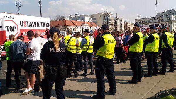 Strajk taksówkarzy w Warszawie - Sputnik Polska